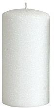 Voňavky, Parfémy, kozmetika Dekoratívna sviečka, biela, 7x18 cm - Artman Glamour