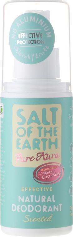 Prírodný sprej-deodorant - Salt of the Earth Pure Aura Melon And Cucumber Natural Deodorant Spray  — Obrázky N1