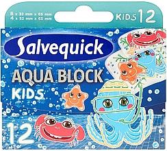 Voňavky, Parfémy, kozmetika Detské náplasti - Salvequick Aqua Block Kids Slices