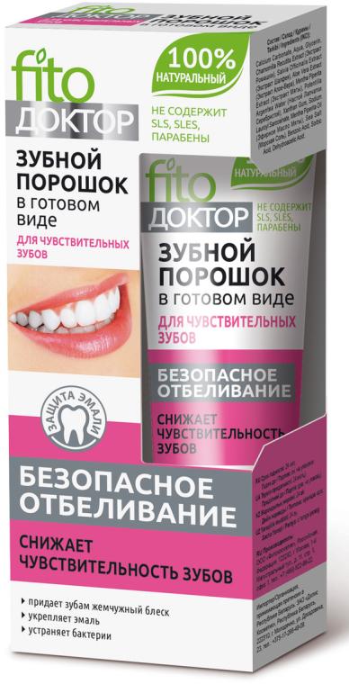 Hotový zubný prášok pre citlivé zuby - Fito Kosmetik