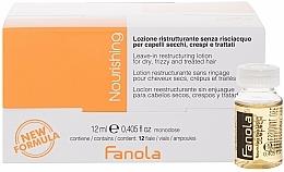 Voňavky, Parfémy, kozmetika Ampulky na reštrukturalizáciu suchých vlasov - Fanola Leave-In Restructuring Lotion