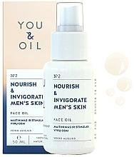 """Voňavky, Parfémy, kozmetika Olej na tvár """"Výživa a povzbudenie"""" - You & Oil Nourish & Invigorate Men's Skin Face Oil"""