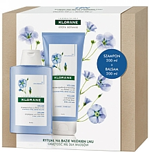 Voňavky, Parfémy, kozmetika Sada - Klorane Flax Fiber (shm/200ml + cond/200ml)
