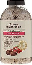 Voňavky, Parfémy, kozmetika Soľ do kúpeľa s vôňou bobúľ goji a masla shea - Nature de Marseille
