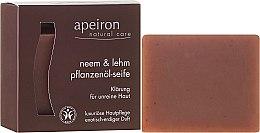 """Voňavky, Parfémy, kozmetika Prírodné mydlo """"Neem a íl"""" pre problémovú kožu - Apeiron Neem & Clay Plant Oil Soap"""