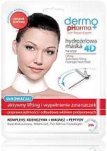 Voňavky, Parfémy, kozmetika Maska na tvár - Dermo Pharma 4D Lifting & Wrinkles Filling Hydrogel Neck Mask