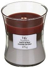 Voňavky, Parfémy, kozmetika Vonná sviečka v pohári - WoodWick Hourglass Trilogy Candle Forest Retreat