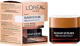 Voňavky, Parfémy, kozmetika Výživný peeling na tvár - L'Oreal Paris Sugar Scrubs