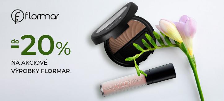 Zľavy do -20% na akciové výrobky Flormar. Ceny na stránke sú uvedené so zľavou
