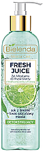 Voňavky, Parfémy, kozmetika Micelárny gél s detoxovým účinkom - Bielenda Fresh Juice Detox Lime