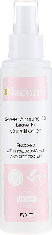 Kondicionér na vlasy - Nacomi No-Rinse With Sweet Almond & Hyaluronic Acid Conditioner — Obrázky N1