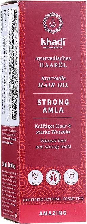 Posilňujúci olej na vlasy - Khadi Ayuverdic Strong Amla Hair Oil