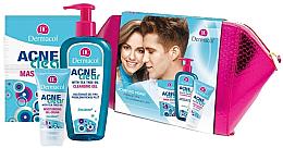 Voňavky, Parfémy, kozmetika Sada - Dermacol Acneclear (clean/gel/200ml + gel/cr/50ml + f/mask/2x8ml)
