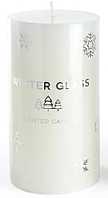 Voňavky, Parfémy, kozmetika Vonná sviečka, biela, 7x8cm - Artman Winter Glass