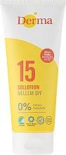 Voňavky, Parfémy, kozmetika Mlieko na opaľovanie - Derma Sun Lotion SPF 15
