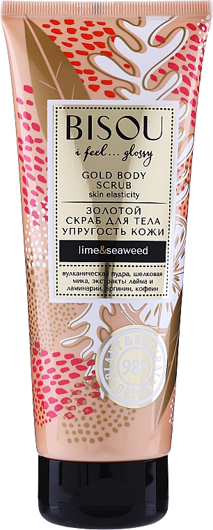 Zlatý scrub na telo - Bisou Lime&Marine Alga Gold Body Scrub