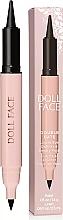 Voňavky, Parfémy, kozmetika Kajalová očná linka - Doll Face Double Date Liquid Eye Definer & Smokey Kajal