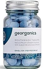 """Voňavky, Parfémy, kozmetika Tabletky na výplach úst """"Anglická mäta"""" - Georganics Natural Mouthwash Tablets English Peppermint"""