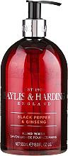 Voňavky, Parfémy, kozmetika Tekuté mydlo na ruky - Baylis & Harding Black Pepper & Ginseng Hand Wash