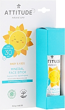 Voňavky, Parfémy, kozmetika Ochranná tyčinka na tvár - Attitude Mineral Face Stick SPF 30