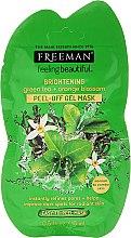 """Voňavky, Parfémy, kozmetika Maska-fólia na tvár """"Rozjasňujúci Zelený čaj a pomarančový kvet"""" - Freeman Feeling Beautiful Brightening Green Tea+Ornge Blossom Peel-Off Gel Mask (mini)"""