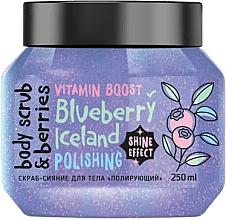 Voňavky, Parfémy, kozmetika Trblietavý peeling na telo Leštenie. Čučoriedka - MonoLove Bio Blueberry Iceland Polishing