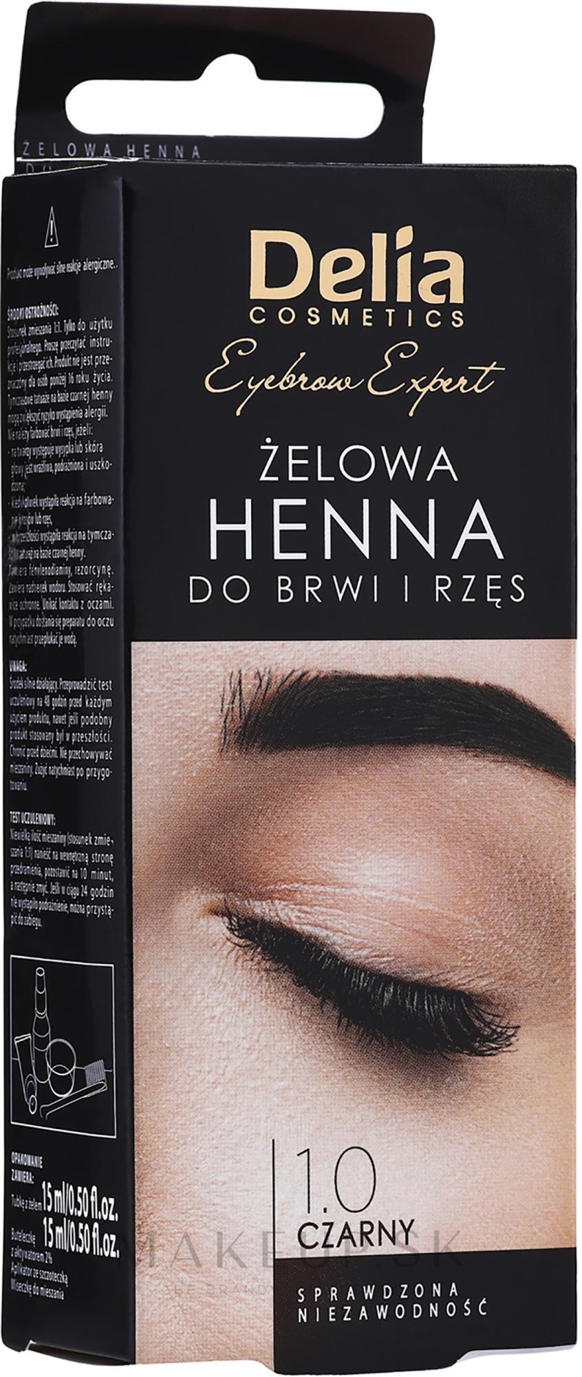 Gél-farba na obočie, čierna - Delia Eyebrow Tint Gel ProColor 1.0 Black — Obrázky 2x15 ml