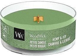 Voňavky, Parfémy, kozmetika Vonná sviečka v pohári - WoodWick Petite Candle Hemp And Ivy