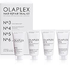 Voňavky, Parfémy, kozmetika Sada na regeneráciu vlasov - Olaplex Hair Repair Trial Kit (shm/30ml + con/30ml + elixir/30ml + h/cr/30ml)