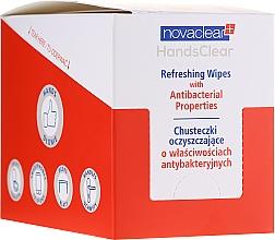 Voňavky, Parfémy, kozmetika Čistiace antibakteriálne obrúsky - Novaclear Hands Clear Refreshing Wipe With Antibacterial Properties
