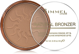 Voňavky, Parfémy, kozmetika Bronzujúci púder na tvár - Rimmel Natural Bronzer Powder
