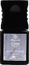 Voňavky, Parfémy, kozmetika Lesklý top na nechty - Alessandro International UV/LED Brush On Fiber Top Gloss Gel