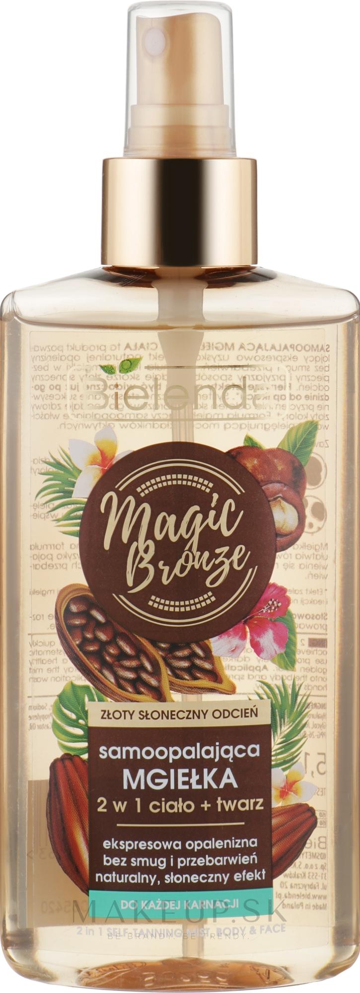 Sprej 2 v 1 na tvár a telo - Bielenda Magic Bronze — fotogafie 150 ml