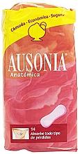 Voňavky, Parfémy, kozmetika Hygienické každodenné vložky Anatomica Sanitary Towels, 14 ks - Ausonia
