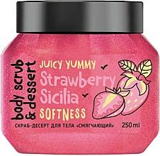 Voňavky, Parfémy, kozmetika Peelingový dezert na telo Zjemnenie. Jahoda - MonoLove Bio Strawberry Sicilia Softness Body Scrub