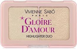 Voňavky, Parfémy, kozmetika Paleta rozjasňovačov - Vivienne Sabo Vs Gloire D'Amour (01 -Svetloružová)