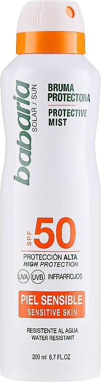 Telový sprej s SPF ochranou - Babaria Protective Mist For Sensitive Skin Spf50 — Obrázky N1