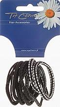 Voňavky, Parfémy, kozmetika Gumička do vlasov 12 ks, čierna + strieborná, 22340 - Top Choice