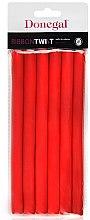 Voňavky, Parfémy, kozmetika Natáčky na vlasy 5004, 1,3 cm / 18 cm, červené - Donegal Ribbon Twist