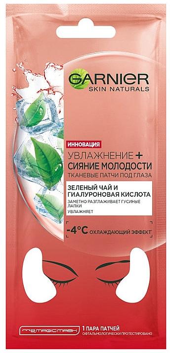 """Látkové vankúšiky na pokožku okolo očí """"Hydratácia + Mladistvá žiara"""" - Garnier Skin Naturals Patches"""