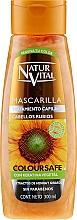 Voňavky, Parfémy, kozmetika Maska na zachovanie farby zafarbených vlasov - Natur Vital Coloursafe Henna Hair Mask Blonde Hair