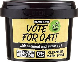 Voňavky, Parfémy, kozmetika Čistiaca maska-scrub - Beauty Jar Vote For Oat! Cleansing Mask-Scrub