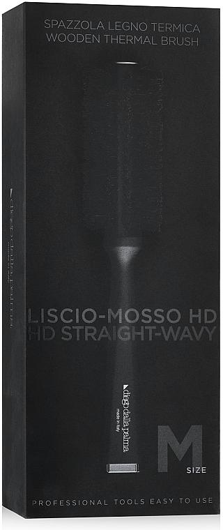 Drevená kefa na vyrovnávanie vlasov - Diego Dalla Palma Thermal Brush Straight-Wavy M — Obrázky N2