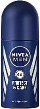 """Voňavky, Parfémy, kozmetika Guľôčkový deodorant """"Ochrana a starostlivosť"""" - Nivea Men Protect and Care Deodorant Roll-On"""