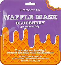 """Voňavky, Parfémy, kozmetika Protizápalová vaflová maska """"Čučoriedková šťava"""" - Kocostar Blueberry Waffle Mask"""