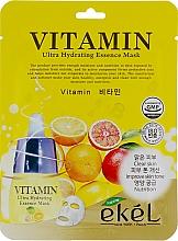 Voňavky, Parfémy, kozmetika Textilná maska s komplexom vitamínov - Ekel Vitamin Ultra Hydrating Mask