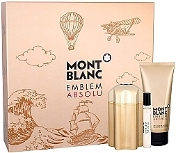 Voňavky, Parfémy, kozmetika Montblanc Emblem Absolu - Sada (edt/100ml + sh/gel/100ml + edt/7.5ml)
