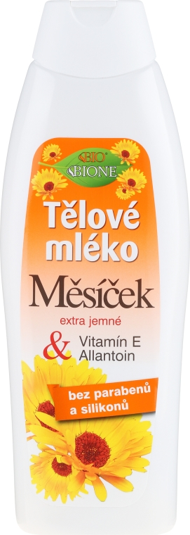 Telový lotion - Bione Cosmetics Marigold Hydrating Body Lotion With Vitamin E and Allantoin