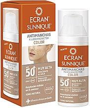 Voňavky, Parfémy, kozmetika Starostlivosť o tvár s SPF ochranou - Ecran Sunnique Antimanchas Color Spf50+
