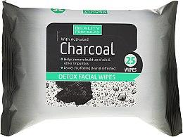 Voňavky, Parfémy, kozmetika Čistiace obrúsky na tvár s aktívnym uhlím - Beauty Formulas Charcoal Detox Facical Wipes
